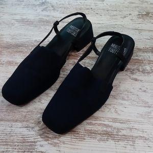 Mootsies Tootsies Slingback Blue Vintage Heels